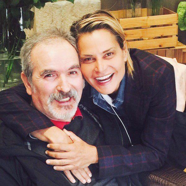 Lamberto Sposini e Simona Ventura, il selfie insieme cinque anni dopo l'ictus