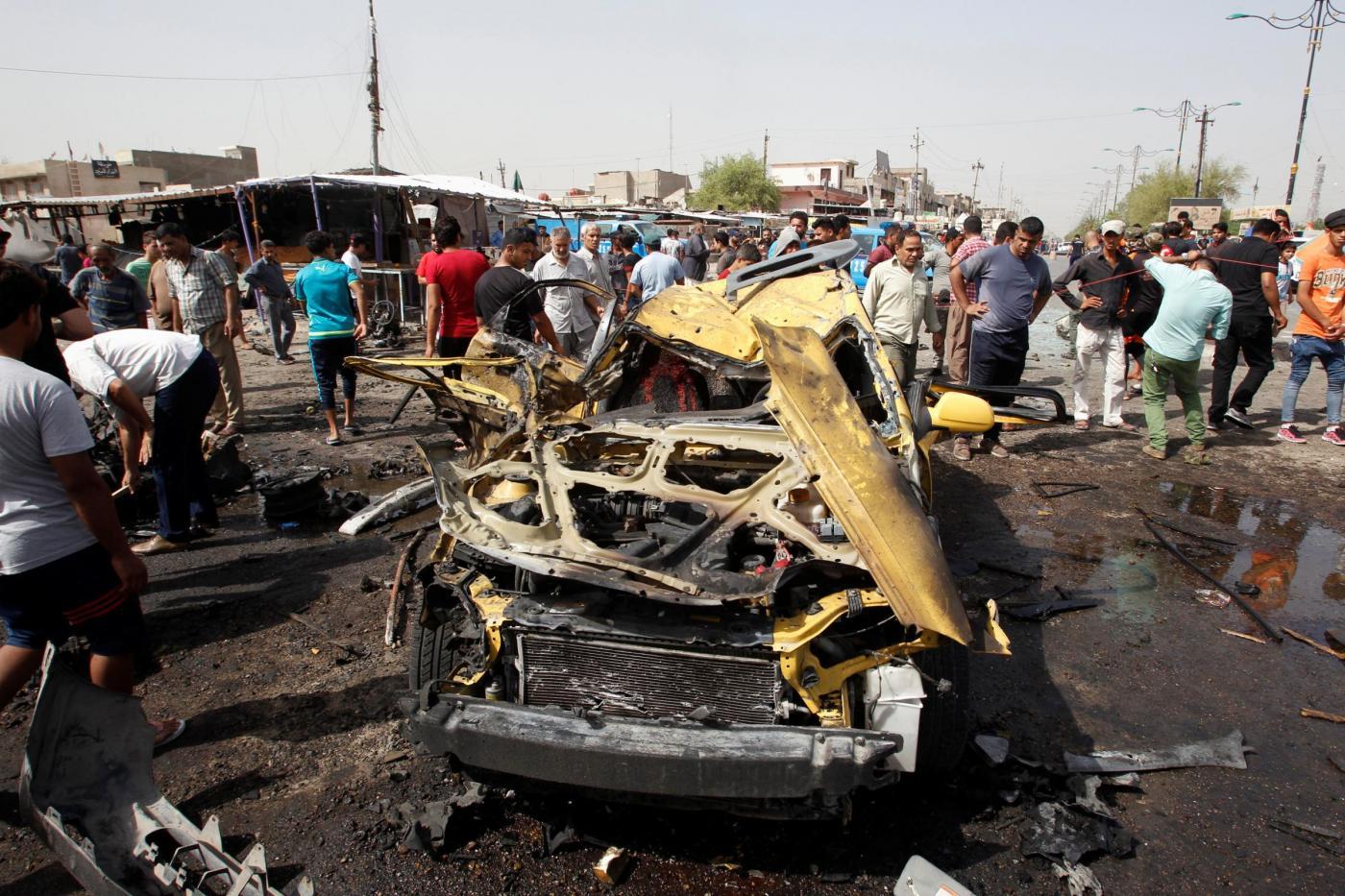 Attacco bomba al mercato di Baghdad