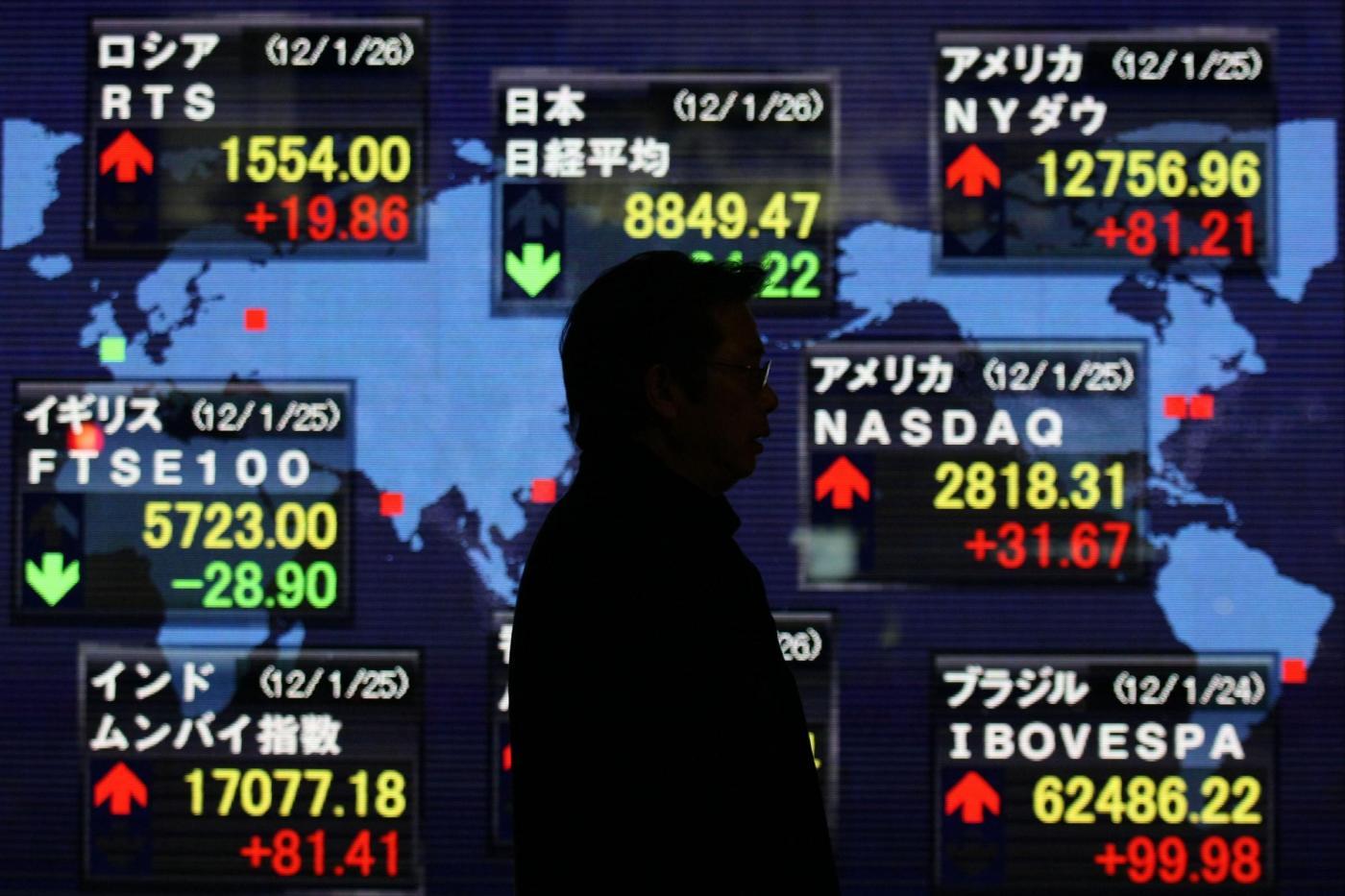 La Borsa di Tokyo chiude in ribasso
