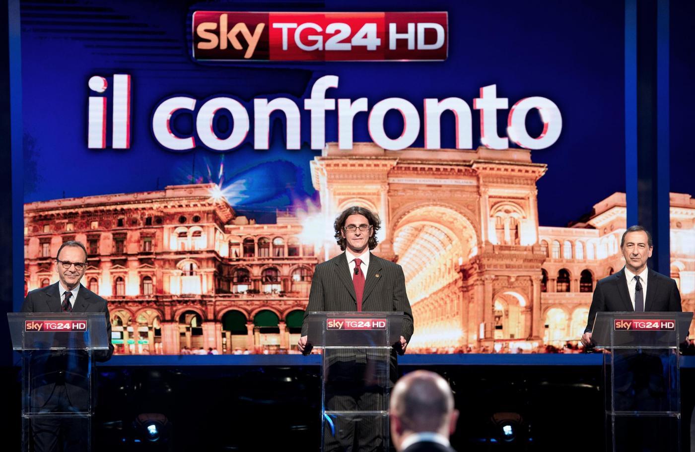 Elezioni comunali Milano 2016: Sala-Parisi-Corrado, duello su Sky