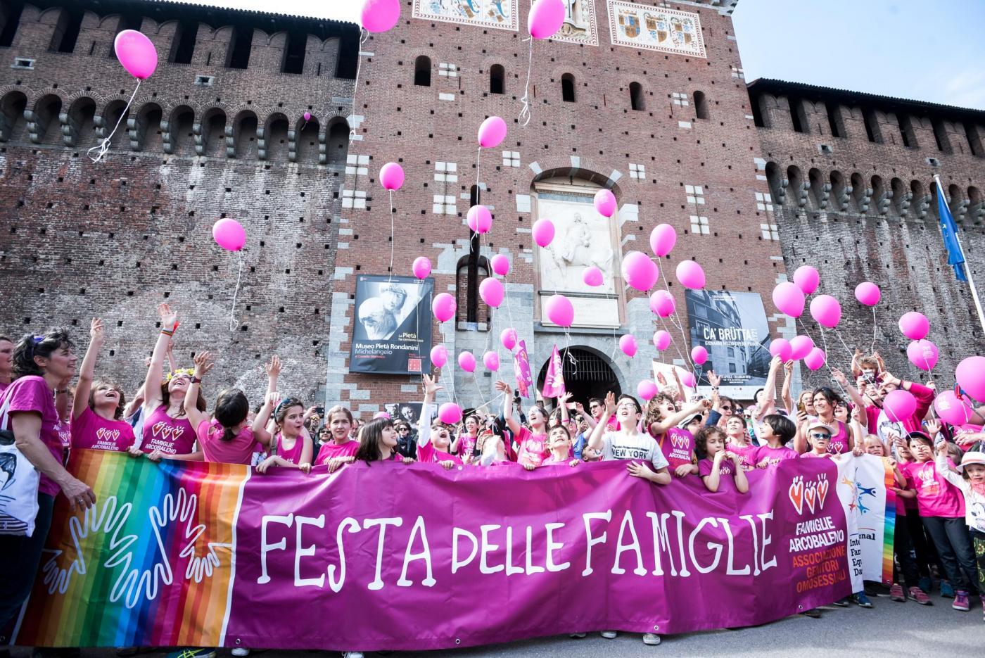 Festa delle famiglie Arcobaleno a Milano