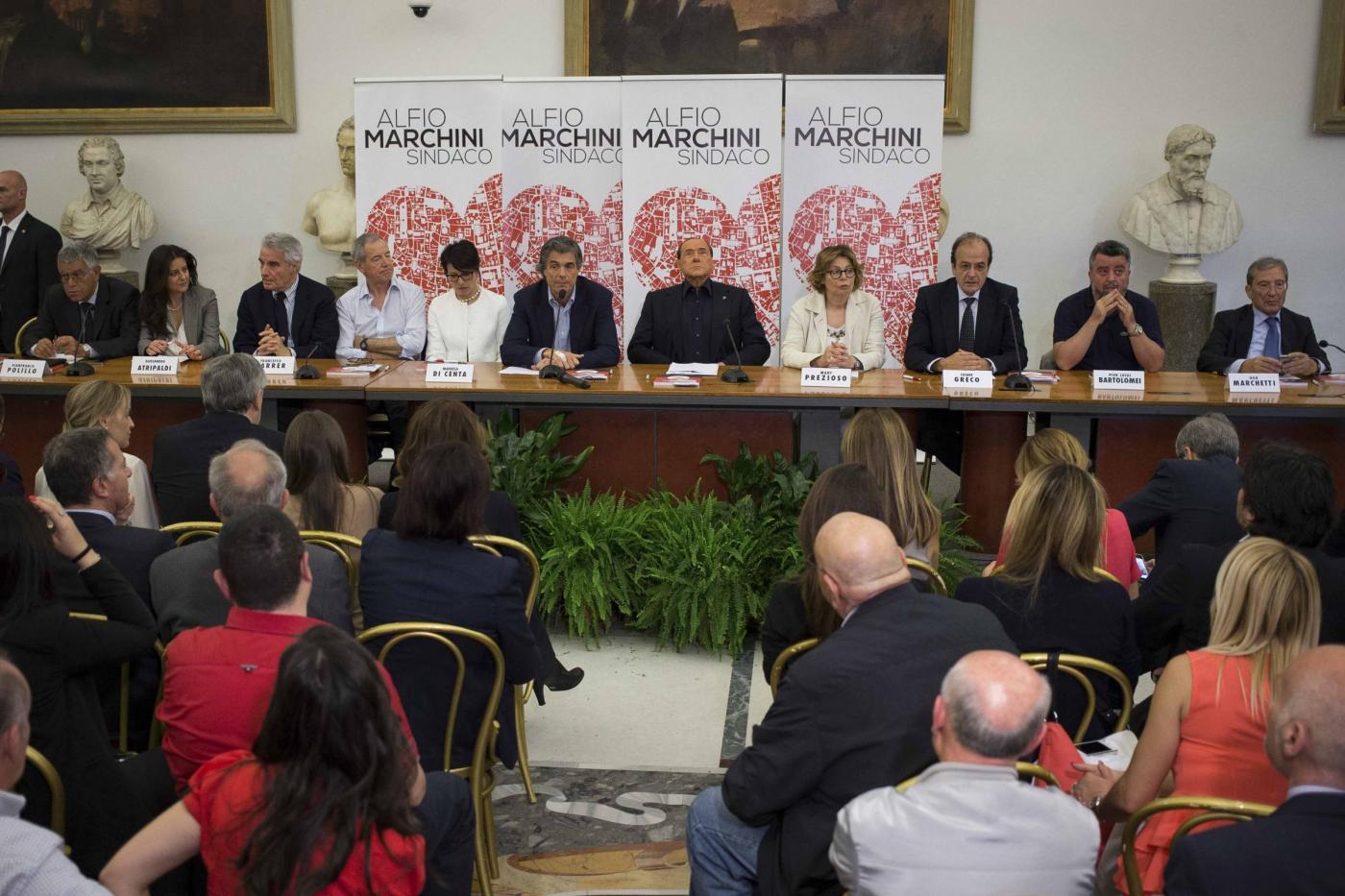 Roma, Comunali 2016: Alfio Marchini presenta la sua lista