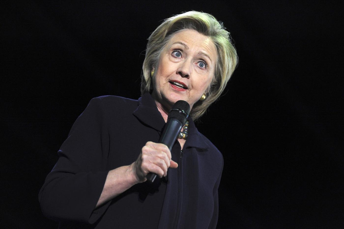 Hillary Clinton in campagna elettorale al Camden County College di Blackwood, New Jersey