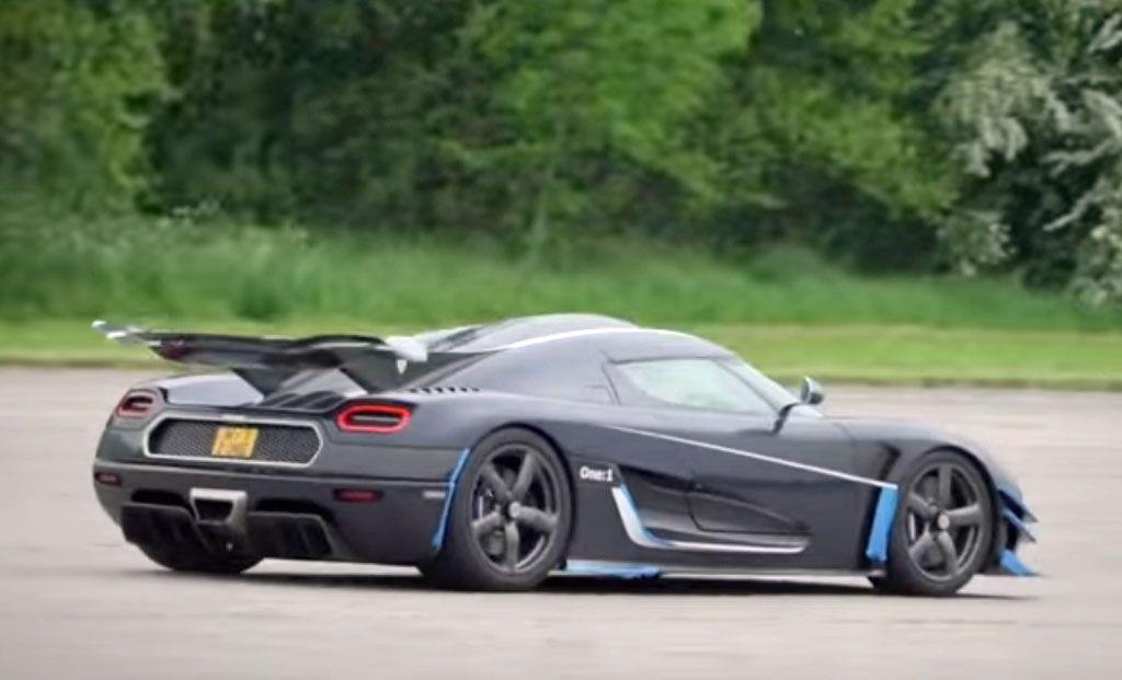 L'incredibile record di velocità della Koenigsegg One:1