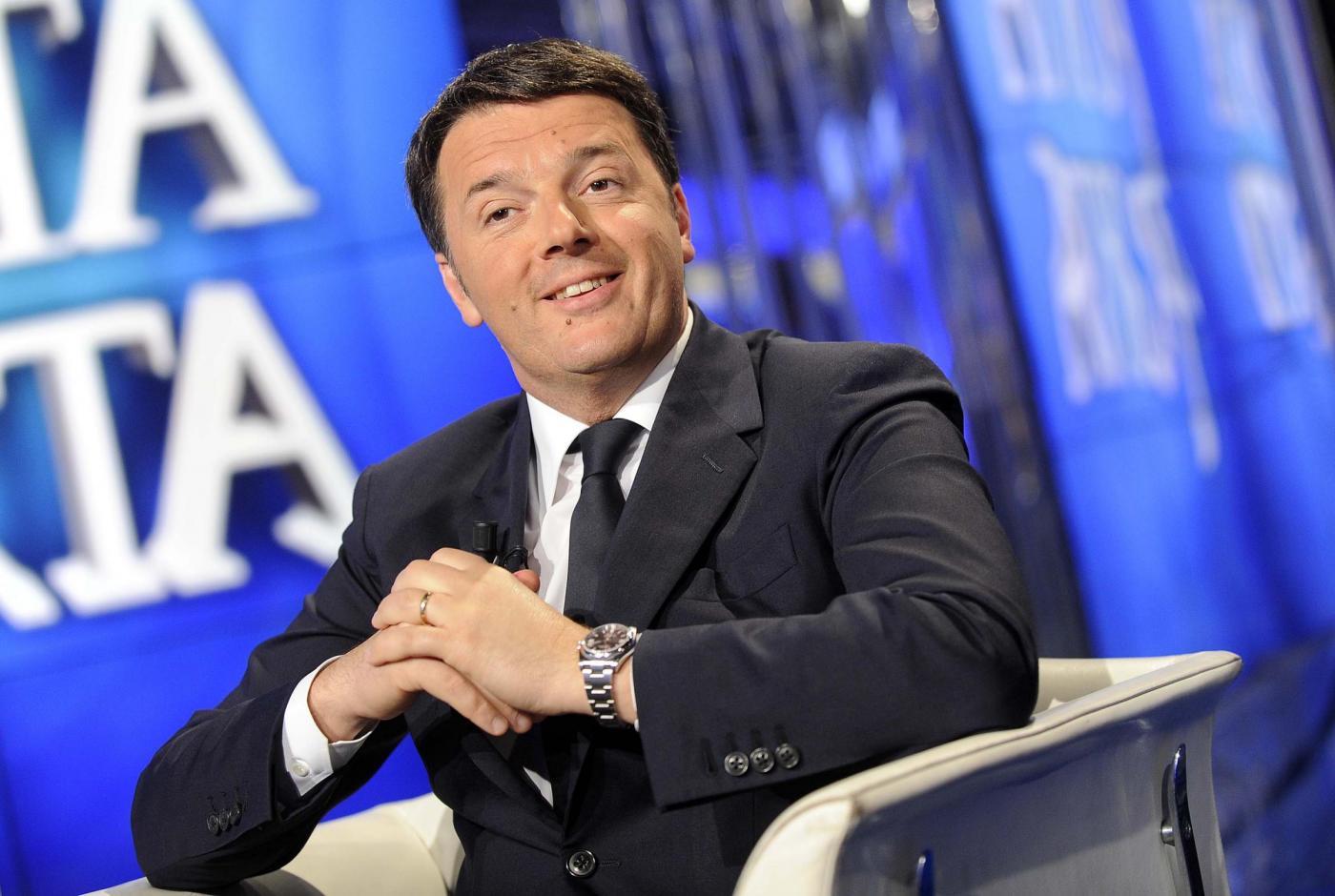 Matteo Renzi ospite di Porta a Porta