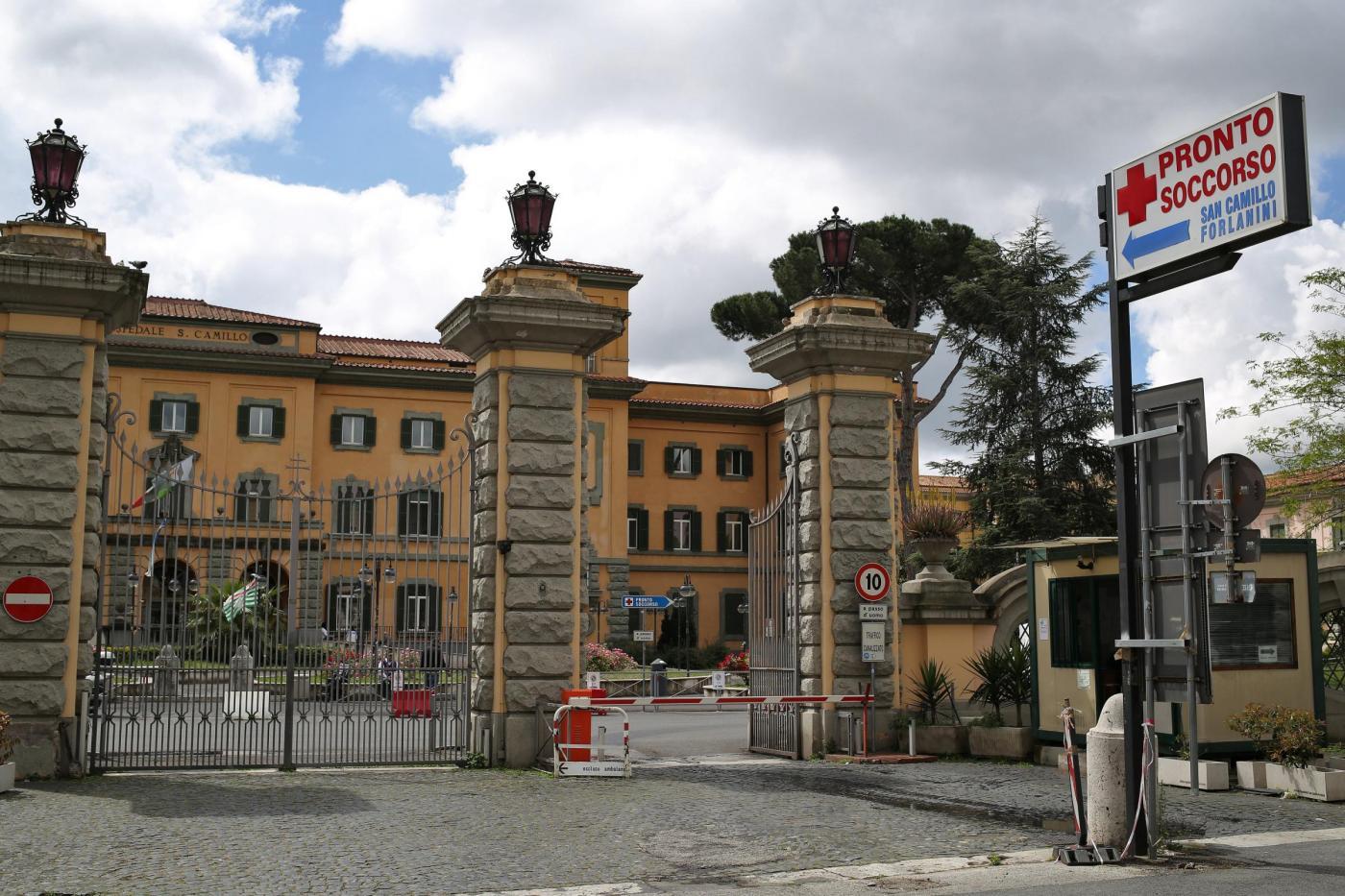 L'Ospedale San Camillo, dove è morto un degente a seguito di un incendio