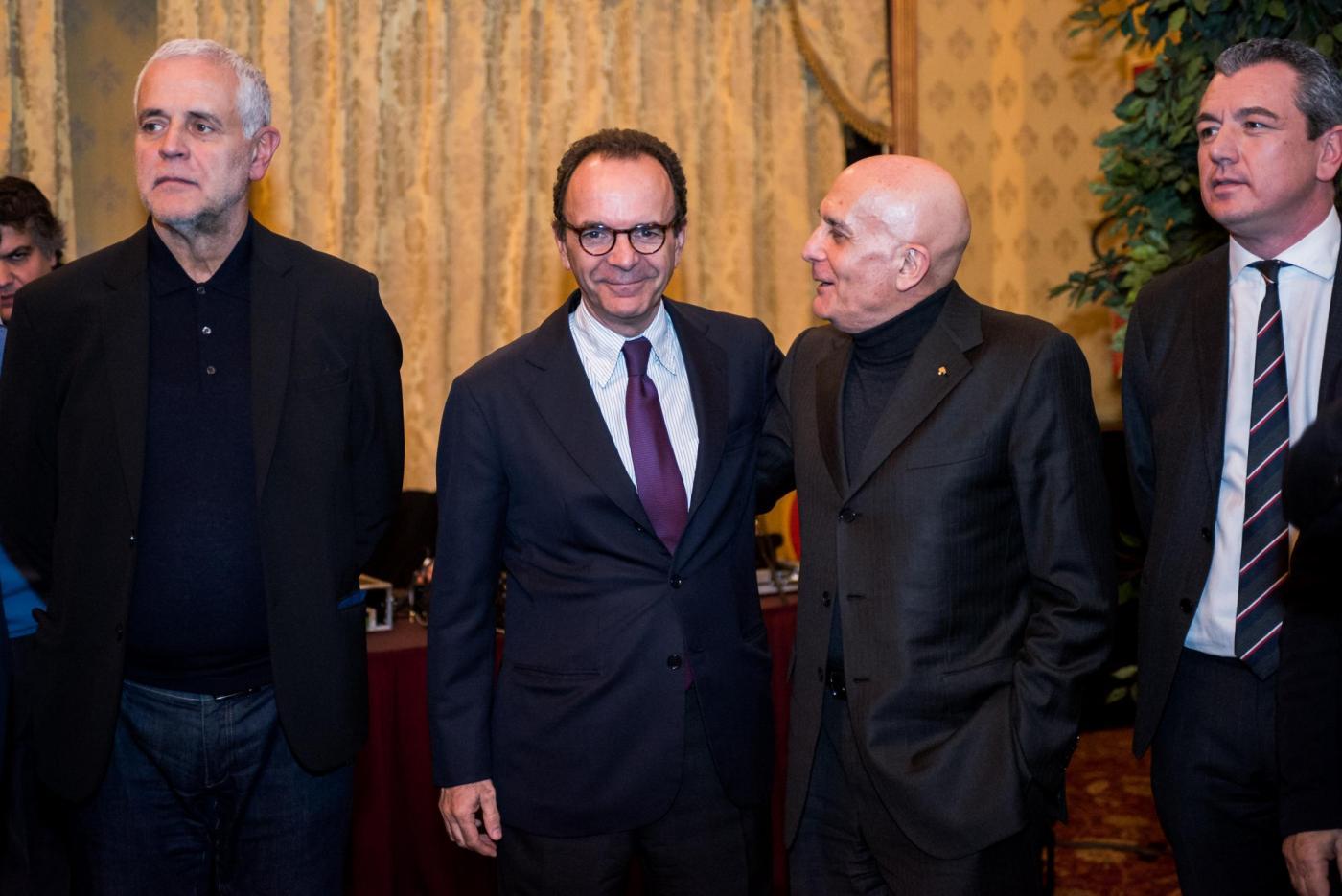 Milano, incontro Ncd con Angelino Alfano, Maurizio Lupi e Stefano Parisi