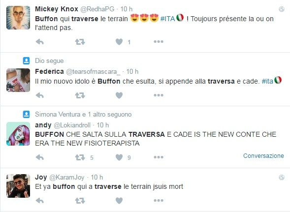 Buffon e la traversa