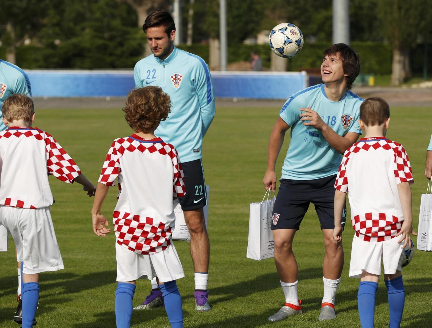Euro 2016, allenamento della nazionale croata