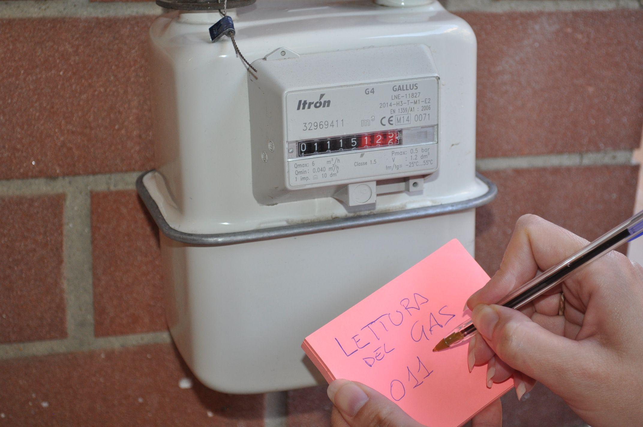 Come fare l'autolettura del contatore del gas