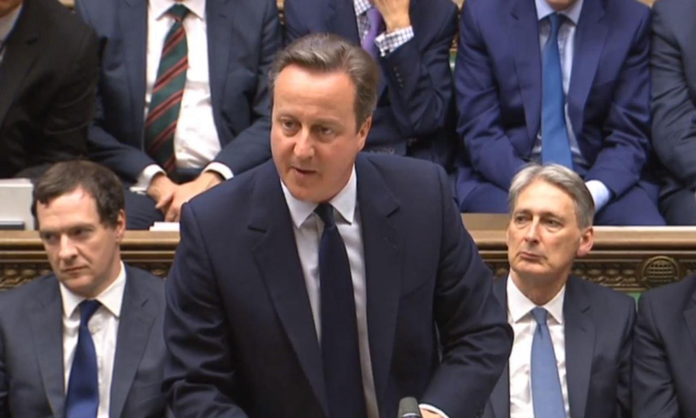 David Cameron parla alla Camera dei Comuni di Londra dopo il voto nel referendum UE