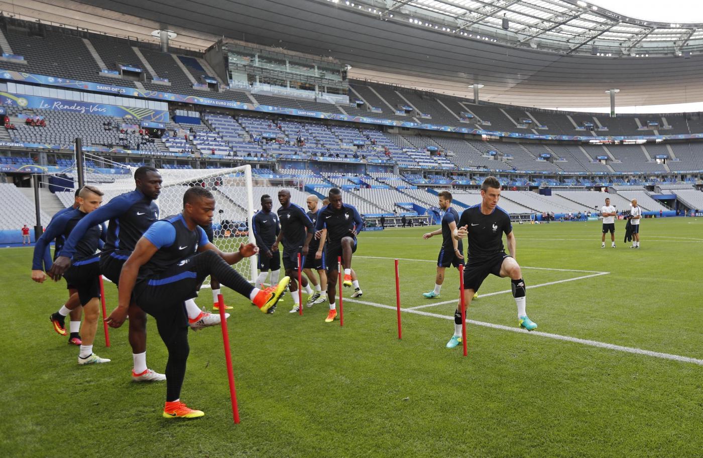Euro 2016, allenamento della Nazionale Francese