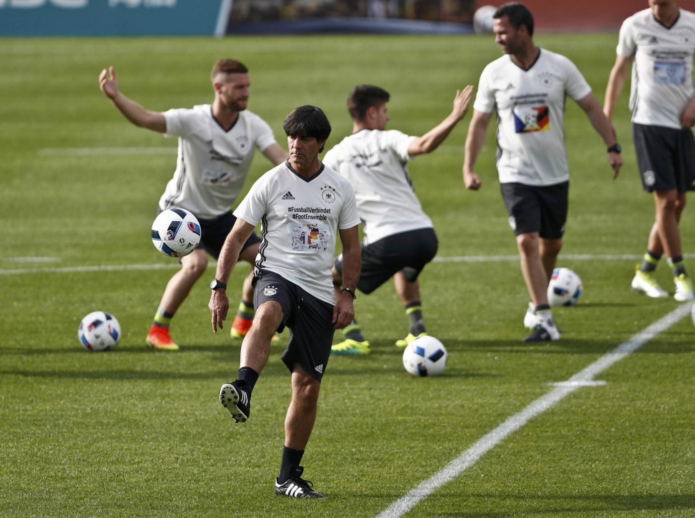 Euro 2016, allenamento della nazionale tedesca