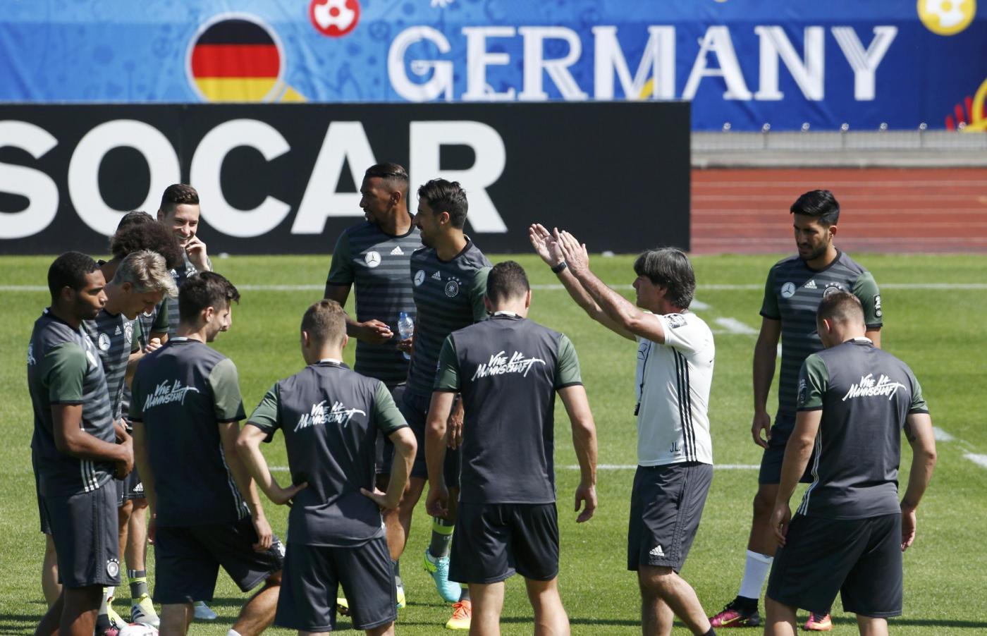 Euro 2016, l'allenamento della Germania in vista dei quarti di finale