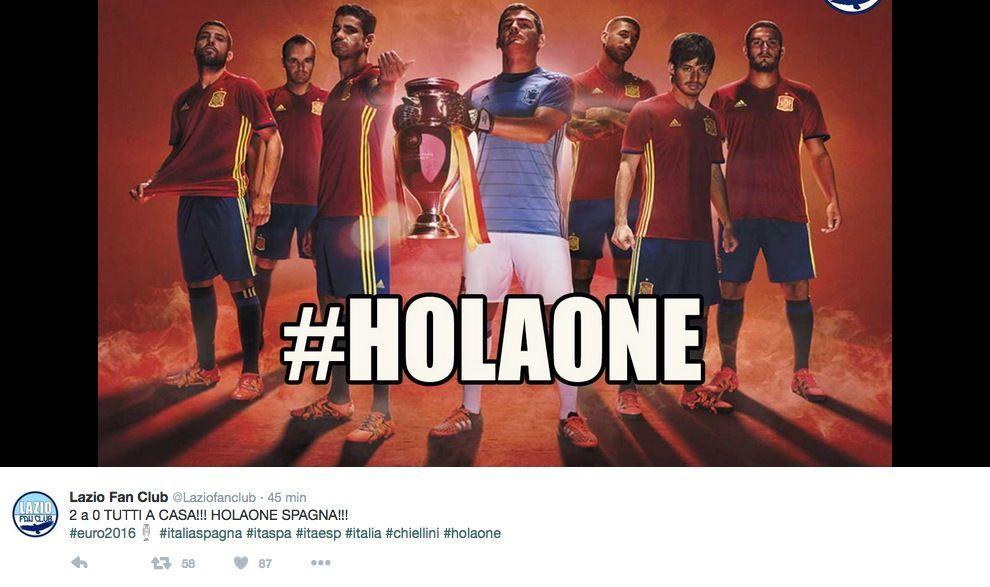 Italia vs Spagna Euro 2016: il bar sport su Facebook e Twitter