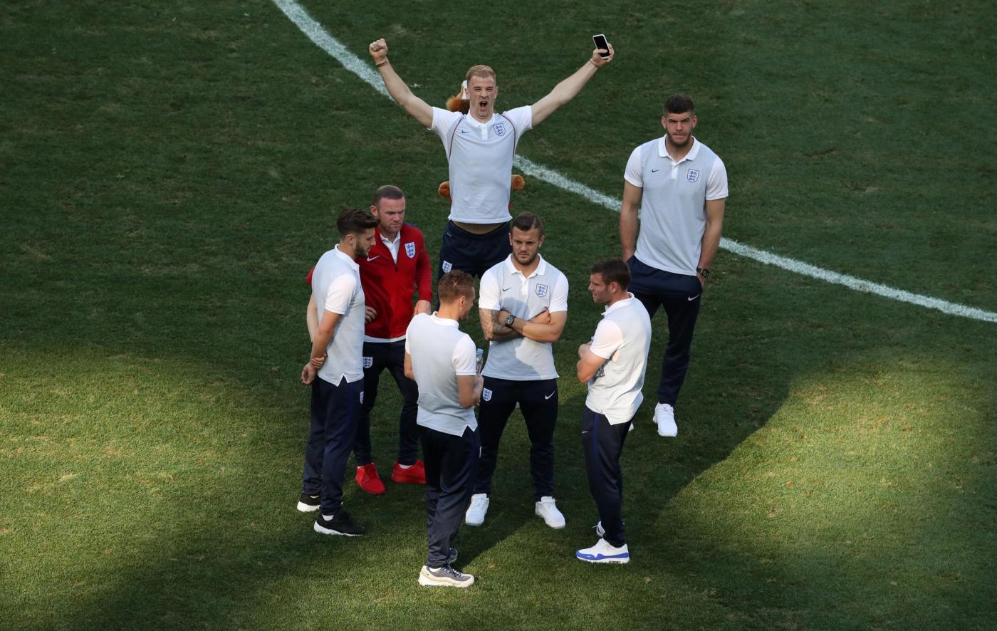 Euro 2016   L'Inghilterra allo stadio di Nizza alla vigilia della partita contro l'Islanda