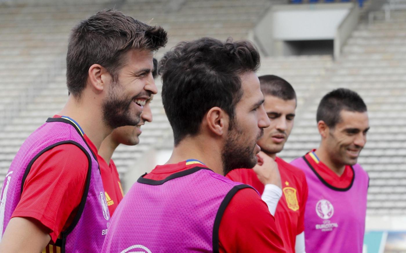 Euro 2016, la Spagna in allenamento