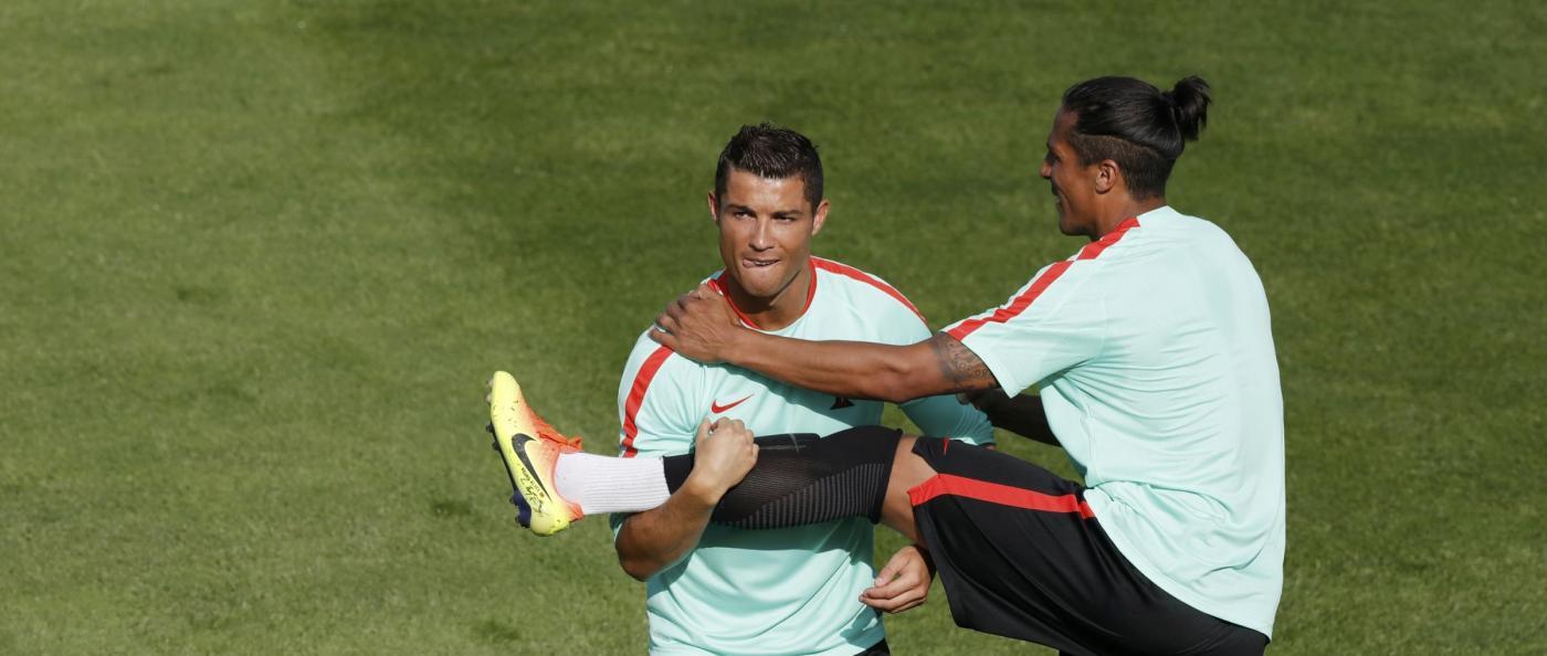 Euro 2016, il Portogallo in allenamento