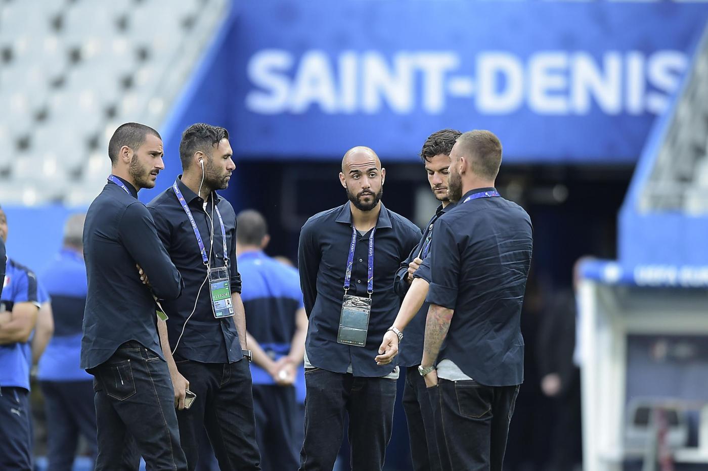 Europei 2016   Passeggiata sul campo dell'Italia alla vigilia di Italia vs Spagna