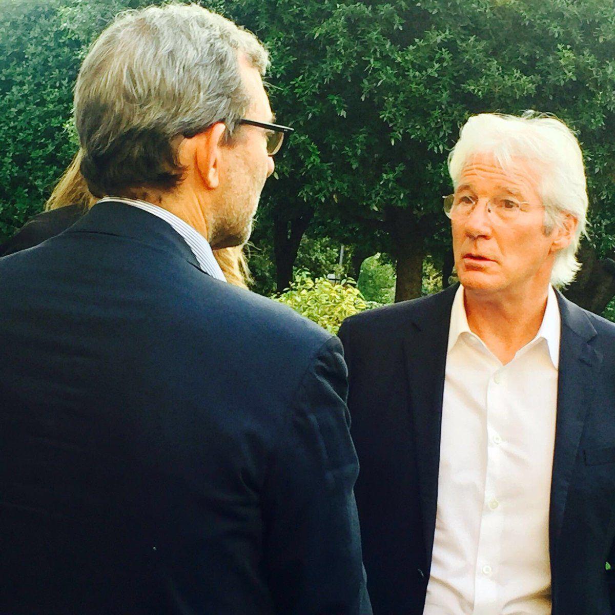 Ballottaggio Roma 2016, Roberto Giachetti con Richard Gere