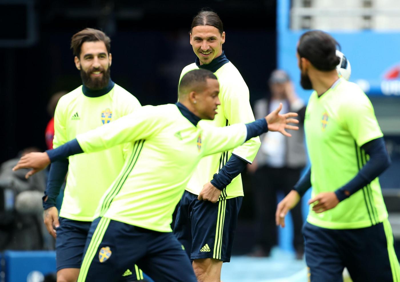 Euro 2016   allenamento della Nazionale svedese