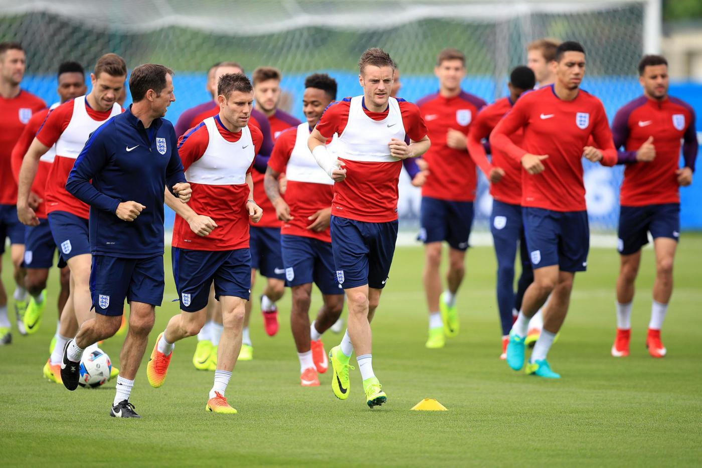Euro 2016 : allenamento della nazionale inglese a Chantilly