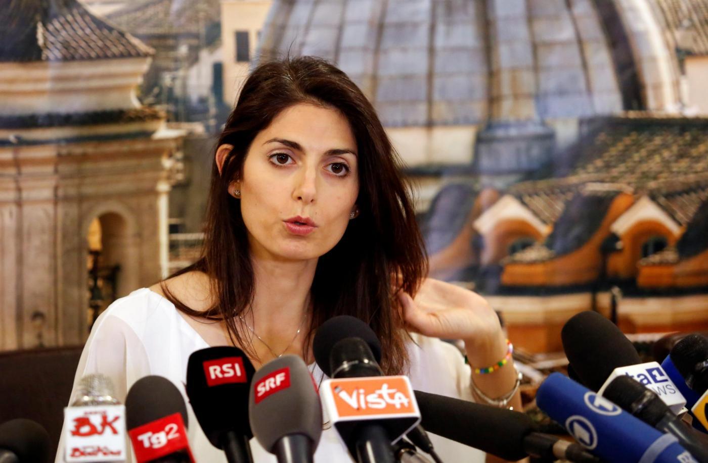 Roma, la conferenza stampa del nuovo sindaco Virginia Raggi