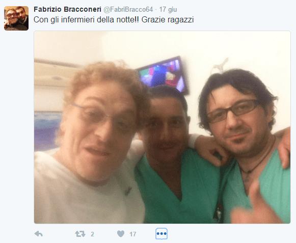 Fabrizio Bracconeri in ospedale, problemi di salute per l'ex spalla di Rita Dalla Chiesa a Forum