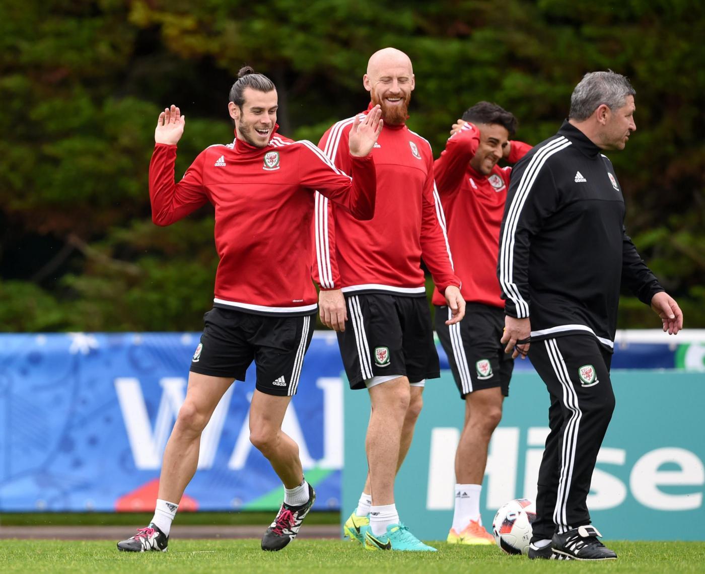 Euro 2016 : allenamento della nazionale del Galles