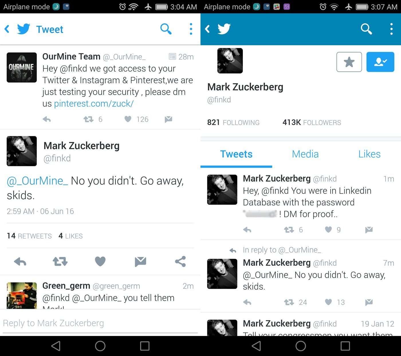 mark zuckerberg hack