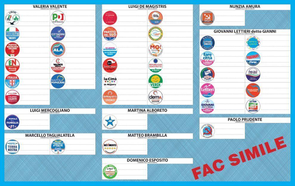 Elezioni comunali Napoli 2016: fac simile scheda elettorale e come si vota