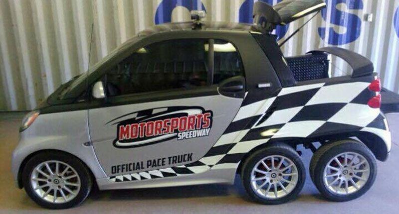 Smart Fortwo diventa un pick-up a sei ruote