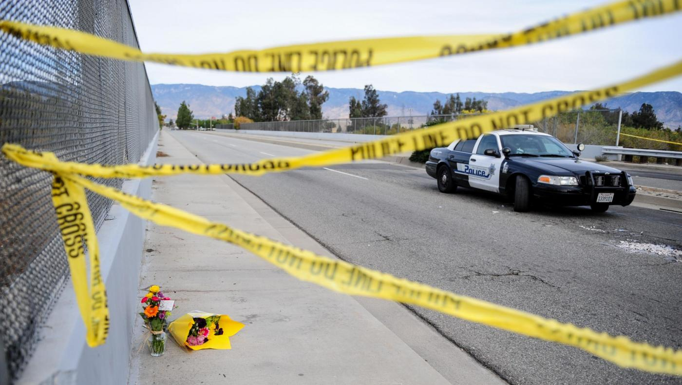 U.S. SAN BERNARDINO SHOOTING FLOWERS