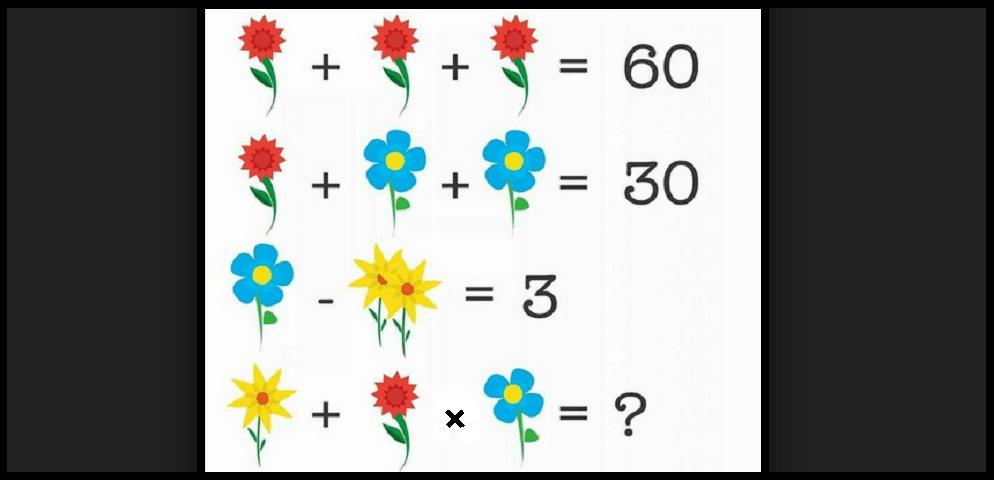 test matematica con fiori