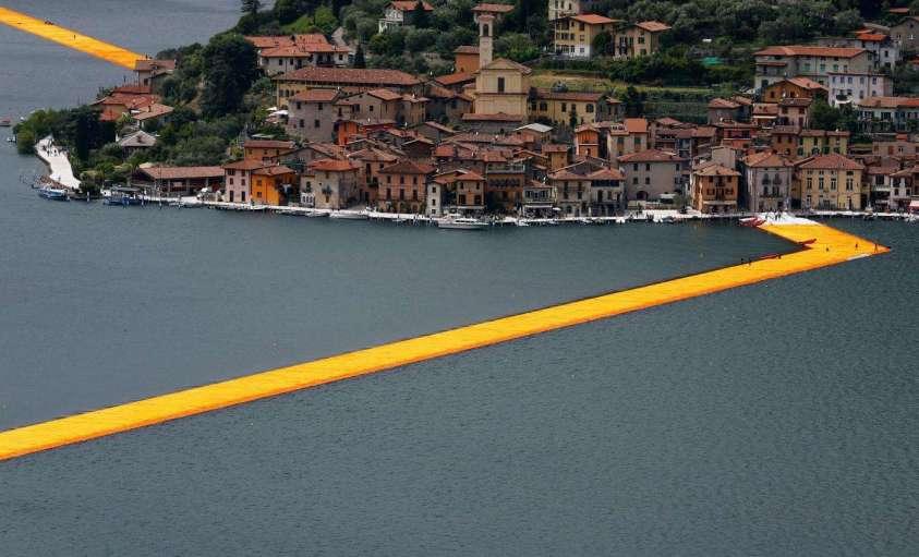 Lago d'Iseo: la passerella di Christo chiude una notte per manutenzione straordinaria