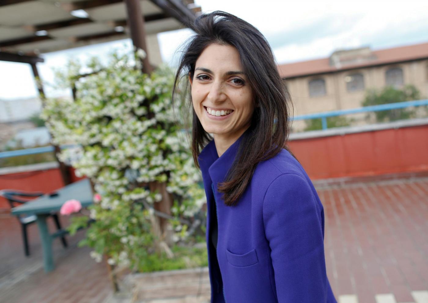 Roma, il candidato sindaco M5S Virginia Raggi incontra i cittadini