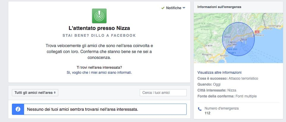 Facebook Safety Check Nizza