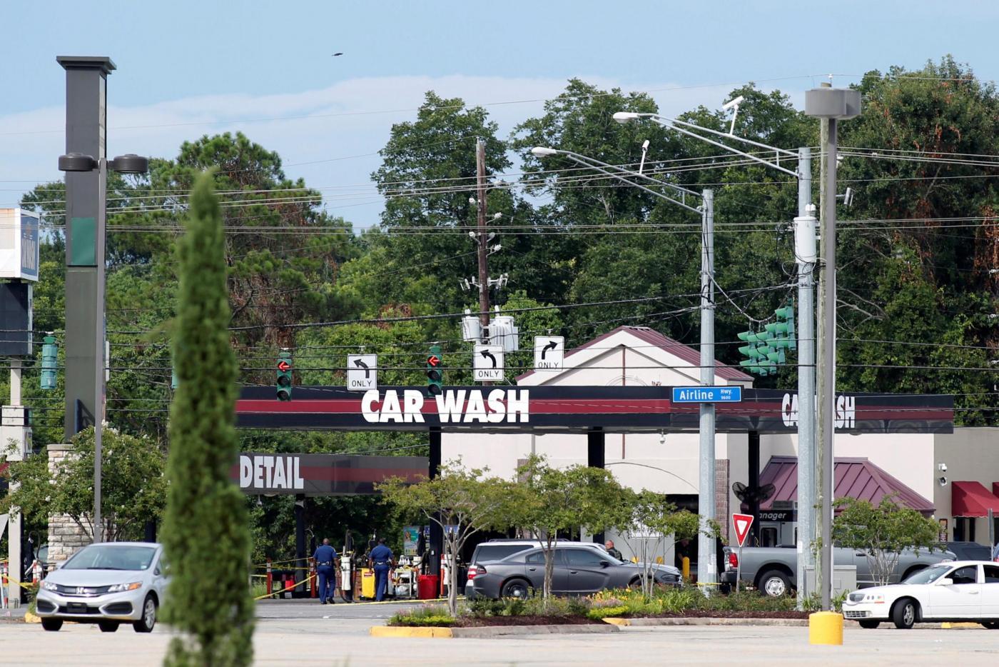 Baton Rouge, il car wash dell'assalto alla polizia