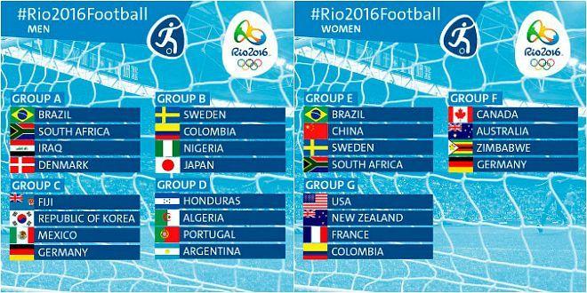 Calendario Partite Calcio.Olimpiadi 2016 Calcio Qualificate Ai Gironi E Calendario