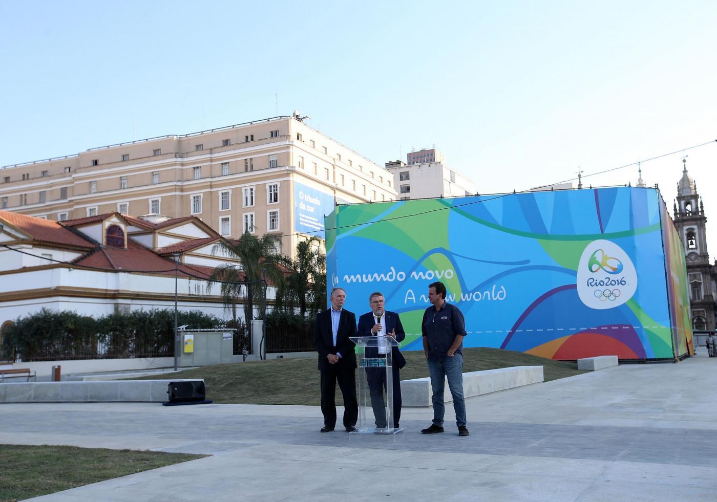 Il presidente del Comitato Olimpico Internazionale Tomas Bach in visita a Rio de Janeiro