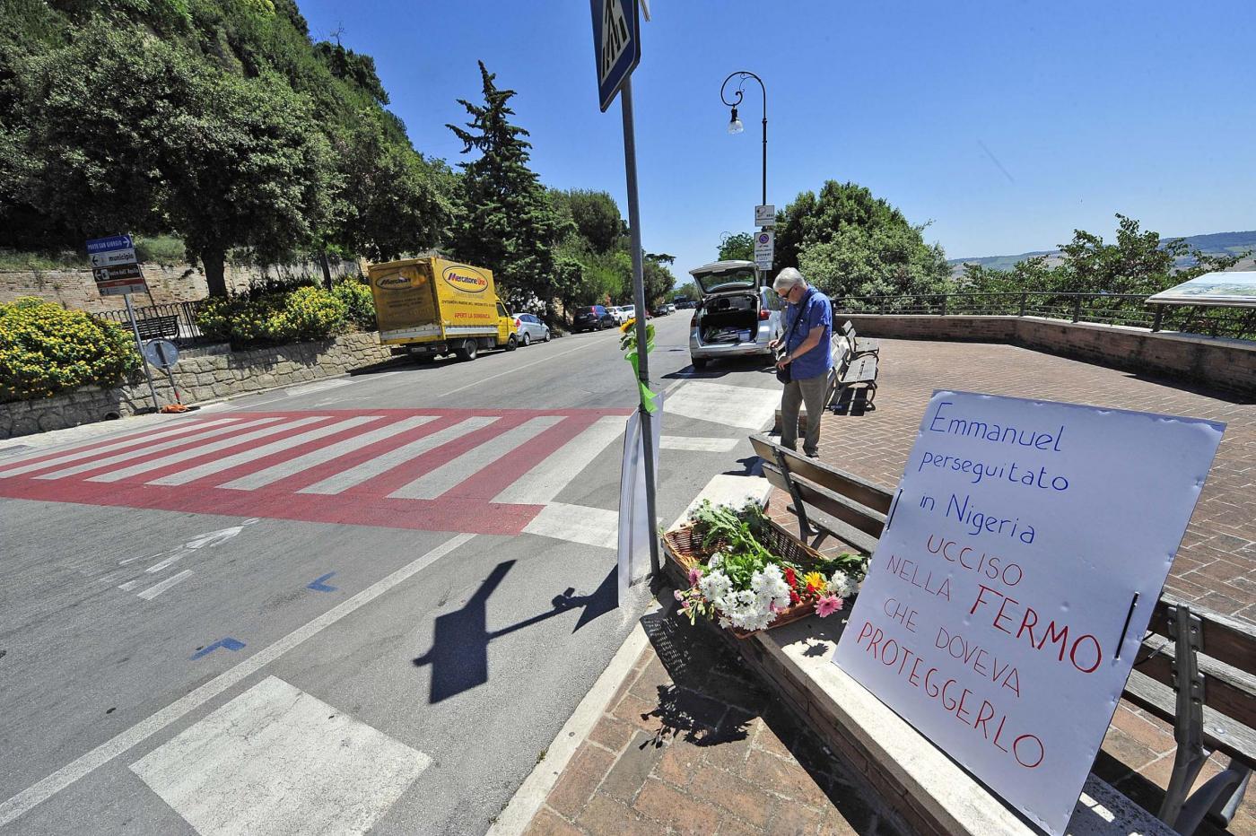 Migrante ucciso a Fermo: il luogo della tragedia