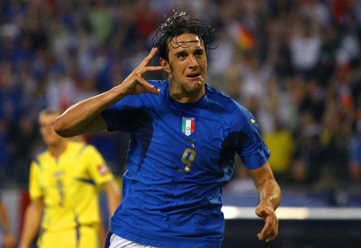 Luca Toni Italia-Ucraina 3-0 Mondiali 2006