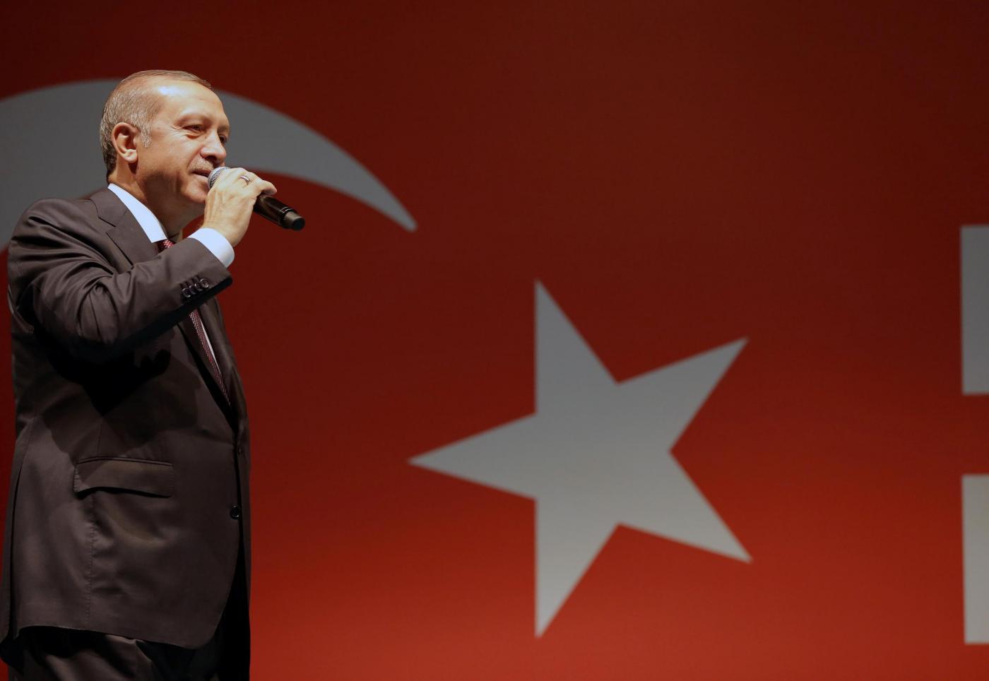 Istanbul, in piazza Taksim le manifestazioni dei supporters di Erdogan