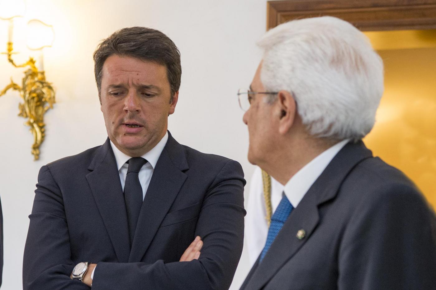 Roma, Mattarella con Matteo Renzi