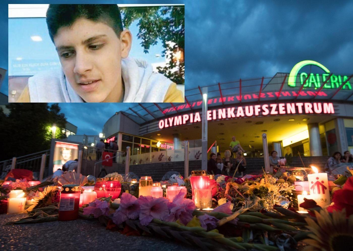 Omaggio alle vittime del centro commerciale Olympia Shopping a Monaco di Baviera