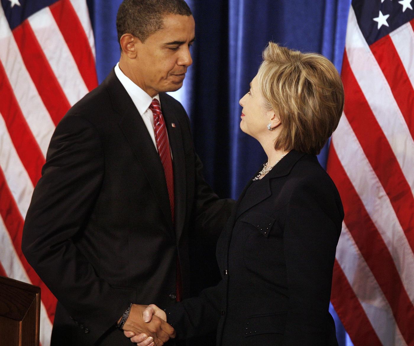 Barack Obama e Hillary Clinton: (non) c'eravamo tanto amati