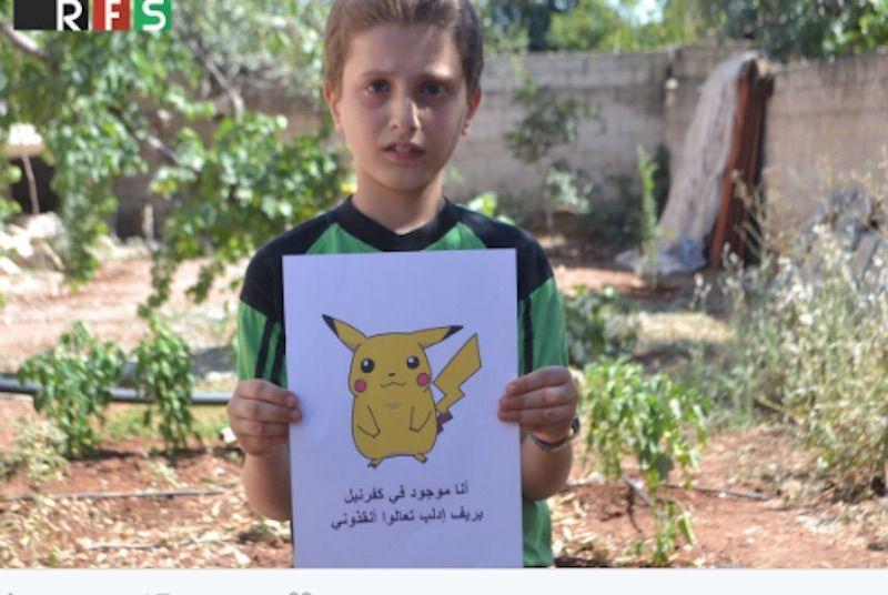 pokemon in siria foto
