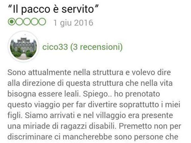 Selvaggia Lucarelli e la recensione su TripAdvisor contro i disabili