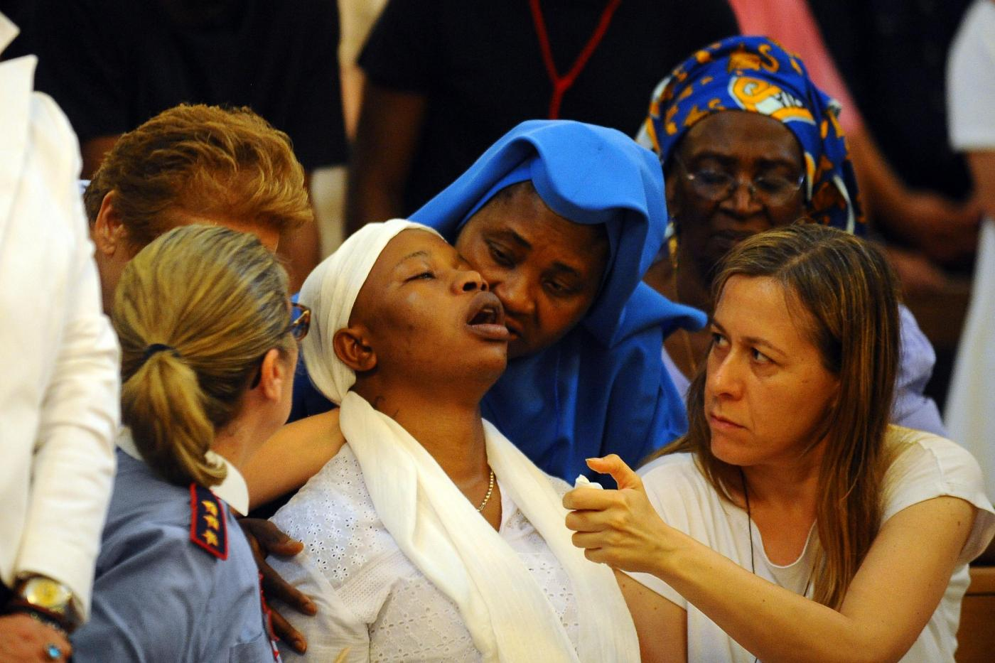 Fermo, funerali di Emmanuel Chidi Namdi