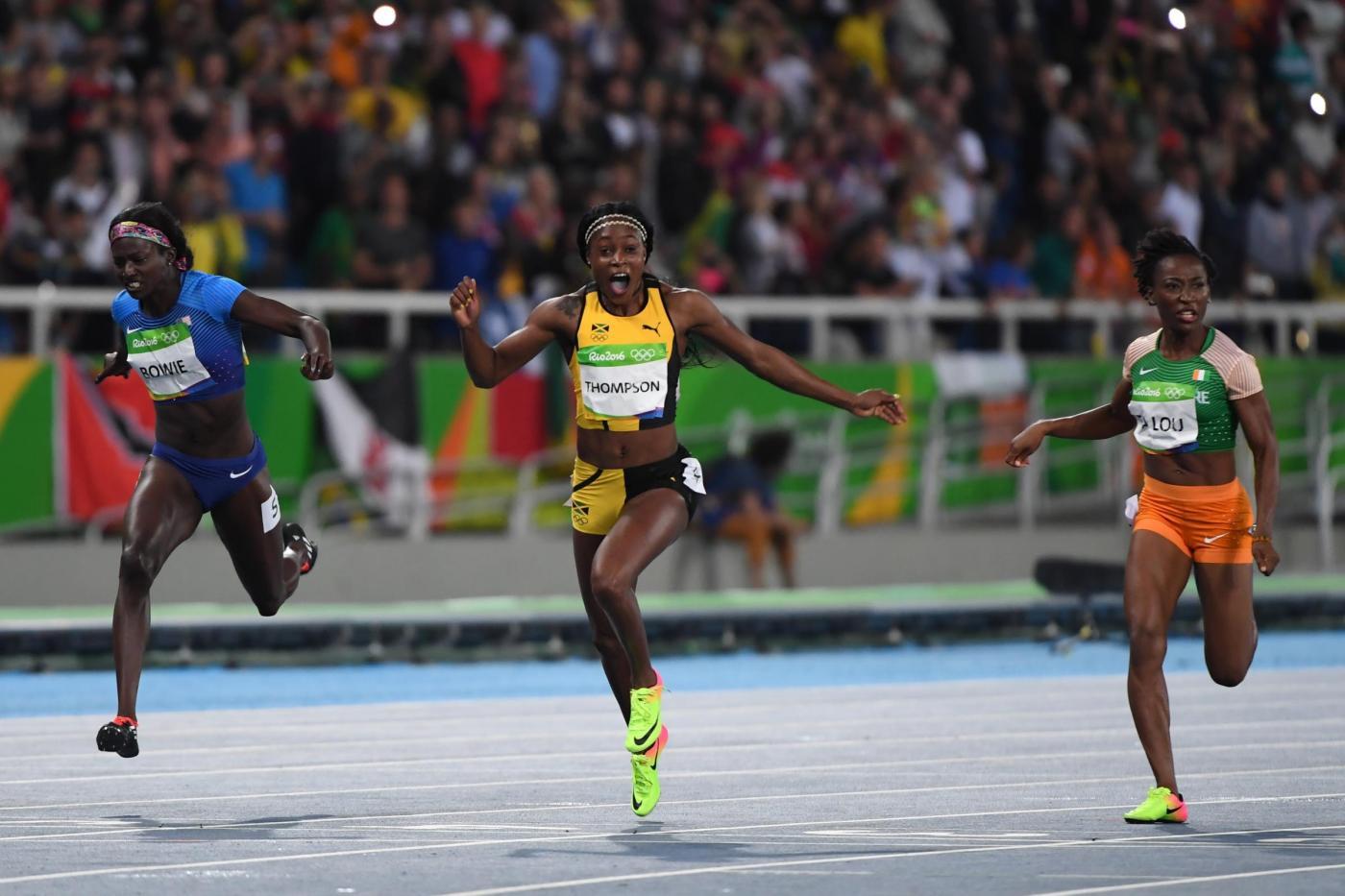 Rio 2016, finale 100m donne vince Elaine Thompson